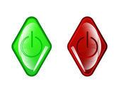 Vektor röda cirkeln ikon på vit bakgrund — Stockvektor