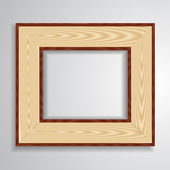 Vintage isolated blank frame — Stock Vector