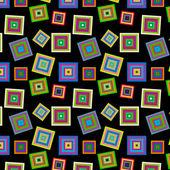 Fyrkantiga färgglada mönster — Stockvektor