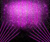 Abstract blurred glowing background with sparks. — Vector de stock
