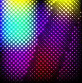 Abstract background colorful lights on black, vector. — Stock Vector