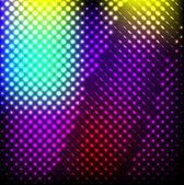 Resumen de luces de colores de fondo en negro, vector. — Vector de stock