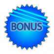 "Big blue button labeled ""Bonus"" — Stockvektor  #46084573"