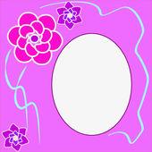 Kwiatowy okrągłe ramki z miejscem na tekst — Wektor stockowy
