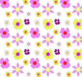 Set of Vector Flowers — Stock Vector