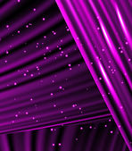 Stars are falling on the background of purple rays. — Stock Vector