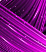 Sterne fallen auf dem Hintergrund der violetten Strahlen. — Stockvektor