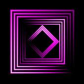 Purple neon square vector background — Stock Vector