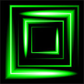 Green neon square vector background — Stock Vector