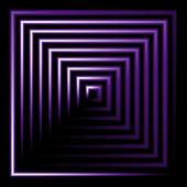 Paarse neon vierkante vector achtergrond — Stockvector