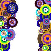 Cirkels kleurrijke patroon — Stockvector
