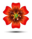 Broszura projektu, streszczenie tło wektor z piękne kolorowe kwiatki — Wektor stockowy