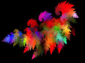 Abstract grungy colorful strokes of paint on a black background.With space for text — Stock Photo