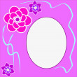 Floral round frame with place for text — Stock Photo #46165511