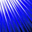Stars are falling on the background of blue rays. — Stock Photo #46165755
