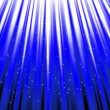 Stars are falling on the background of blue rays. — Stock Photo #46165765