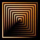 квадратный фон оранжевый неон — Стоковое фото