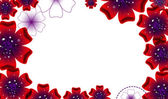 Brochure design,  abstract background with beautiful colored flower pattern — Stock Photo