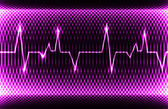Colorful human heart normal sinus rhythm, electrocardiogram record. Bright and bold design — Stock Photo