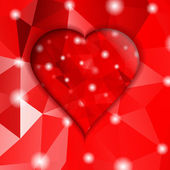 Valentines day.Modern abstract  with red hearts. — Vector de stock