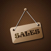 Sales hanging sign or for your text — Vector de stock