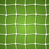 Soccer net on a green background — Stock Vector