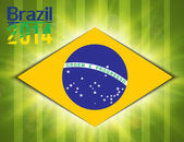 Illustration football card in Brazil flag colors — Vector de stock
