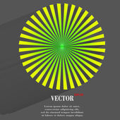 Blurry background light effects and sunburst — Stock Vector