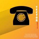Retro telephone icon. flat modern design — Stock Vector #48181079