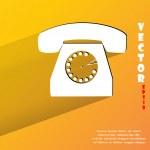 Retro telephone icon. flat modern design — Stock Vector #48181081
