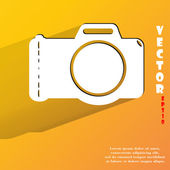 Photo camera icon. flat modern design — Stock Vector