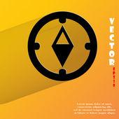 Compass icon. flat modern design — Stock Vector