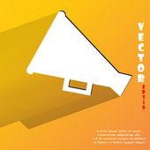 Megaphone, Loud-hailer icon. flat modern design — Stock Vector