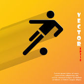 Football player icon. flat modern design — Stock Vector