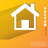House icon. flat modern design — Stock Vector