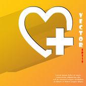 Icono del corazón. diseño plano moderno — Vector de stock