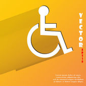 Disabled icon. flat modern design — Stock Vector