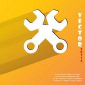гаечный ключ. инструмент для работы значок. плоский современный дизайн — Cтоковый вектор
