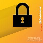 Padlock icon. flat modern design — Stock Vector