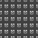 Alarm clock web icon. flat design. Seamless pattern. — Stock Vector #48354027