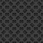 Mail envelope web icon. flat design. Seamless pattern. — Stock Vector
