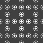 Plus web icon. flat design. Seamless pattern. — Stock Vector