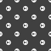 ボタン web アイコンを再生します。フラットなデザイン。シームレス パターン. — ストックベクタ