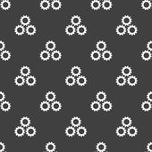 Settings Sign web icon. flat design. Seamless gray pattern. — Stok Vektör