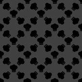 Chef cap web icon. flat design. Seamless gray pattern. — Stock Vector