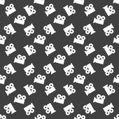 Video-camera web icon. flat design. Seamless gray pattern. — Stock Vector