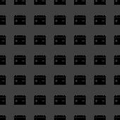 Car battery web icon. flat design. Seamless gray pattern. — Vetorial Stock