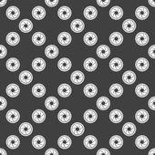Camera diafragma web fotopictogram. platte ontwerp. naadloze grijs patroon. — Stockvector