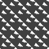 Megaphone, Loud-hailer web icon. flat design. Seamless gray pattern. — Vettoriale Stock