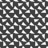 Megaphone, Loud-hailer web icon. flat design. Seamless gray pattern. — Stock Vector
